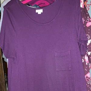 LuLaRoe Thermal Dipped Carly 3XL purple w pink